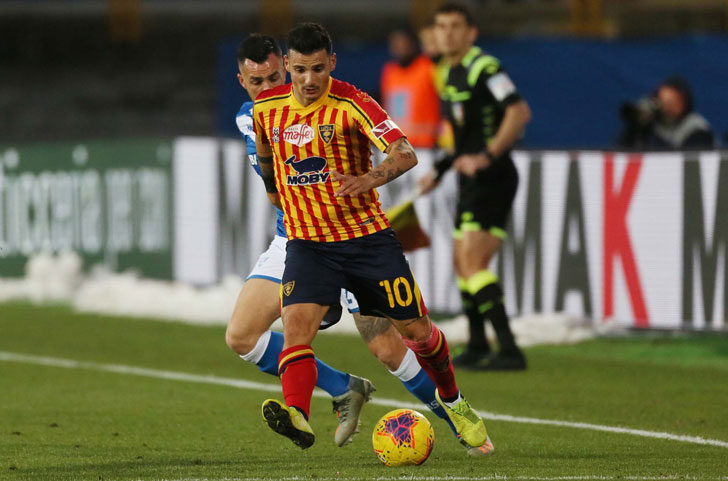 Gianluca Lapadula in action for Lecce
